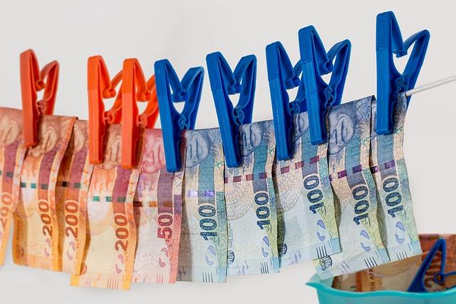 sušení bankovek