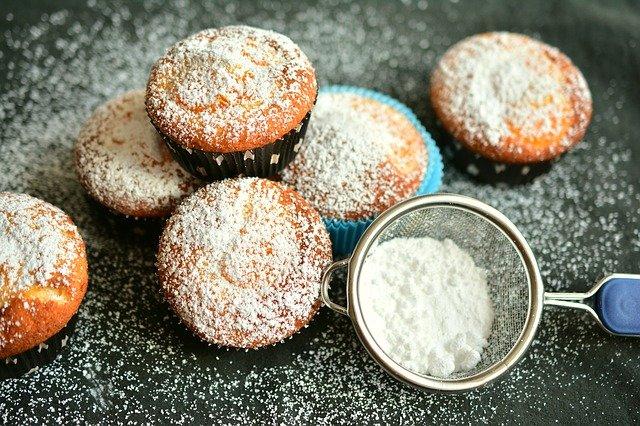 pocukrované muffiny