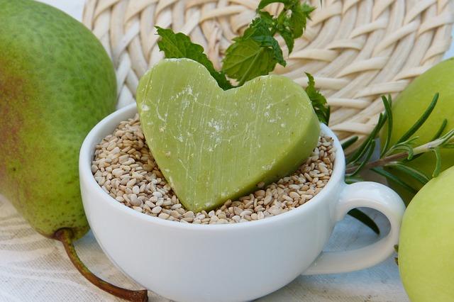zelené přírodní mýdlo