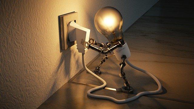 žárovka jako panáček