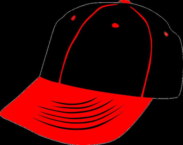 černočervená kšiltovka